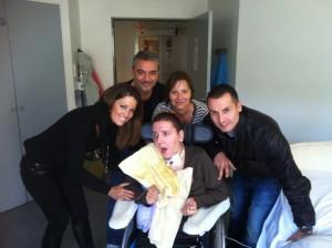 robin richard avec sa famille