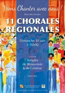affiche 11 chorales regionales
