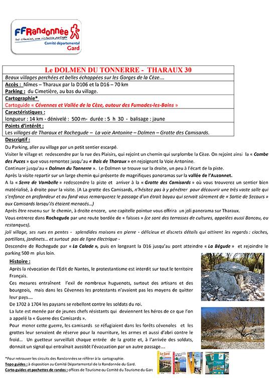 LE DOLMEN DU TONNERRE (THARAUX 30)
