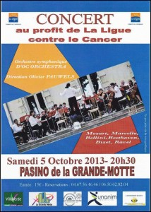 concert ligue contre le cancer - la grande motte